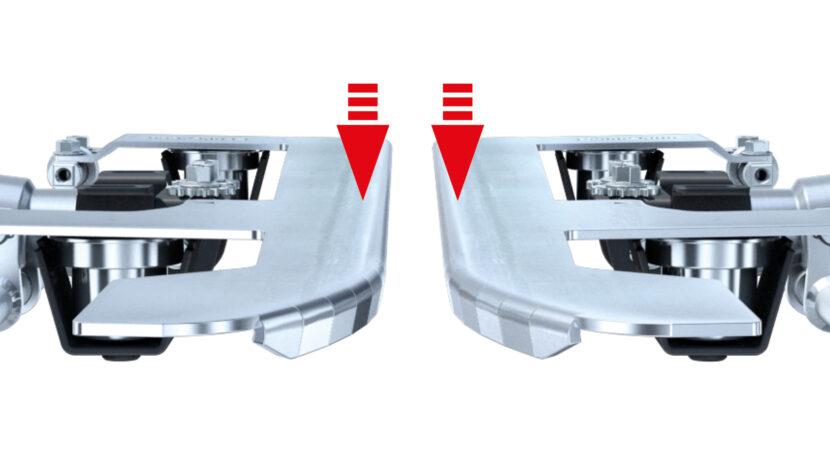 Funktion der patentierten gefederten Pflückplatten des Olimac DRAGO GT Maispflücker erklärt.