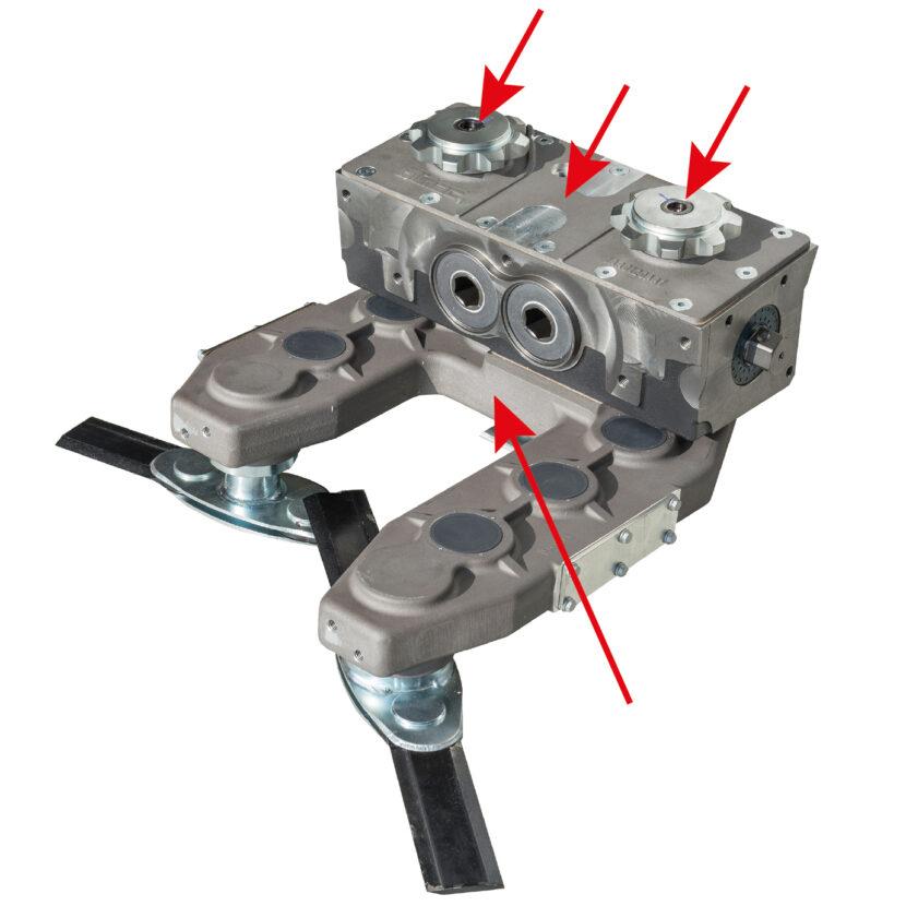 Drago GT Maispflücker verfügt über 4 Rutschkupplungen pro Hauptgetriebe
