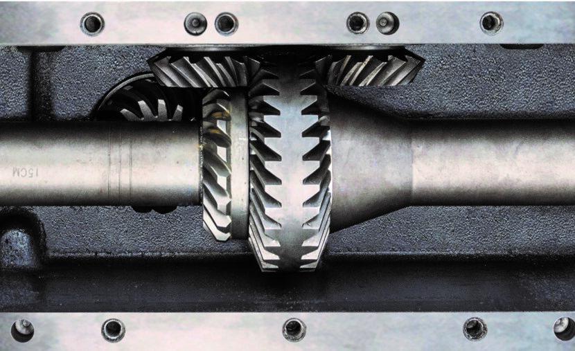 Schrägverzahnte Getriebe in Olimac Drago GT Maispflücker